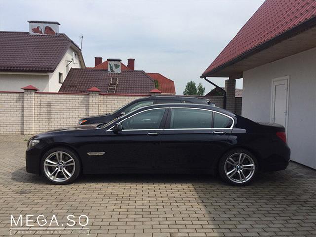 BMW f02 long темно синий xdrive